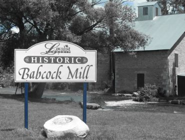 Historic Babcock Mill Stone
