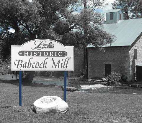 Historic Babcock Mill Stone